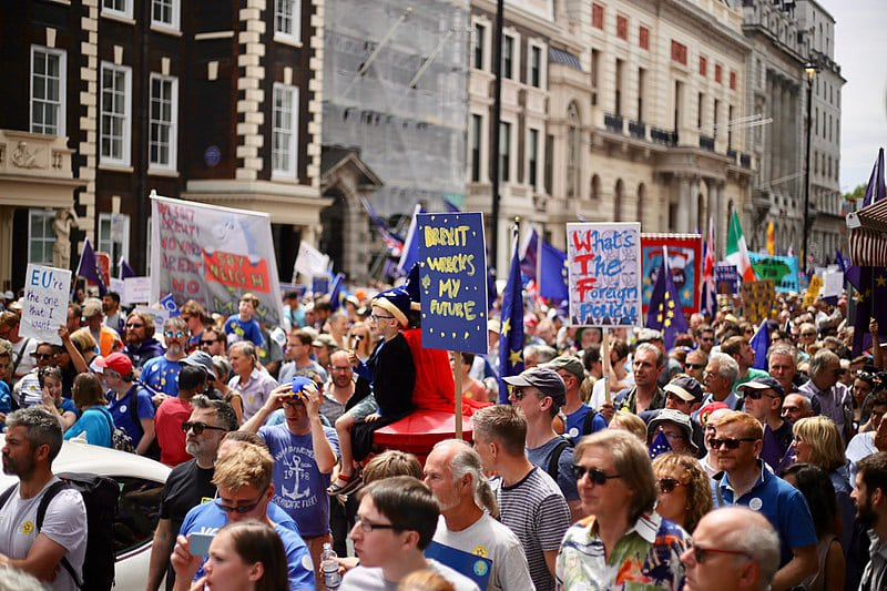 Anti-Government Pro-Brexit March in London in June 2018.